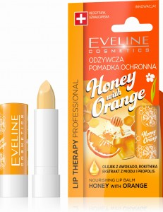 Eveline LIP Therapy Pomadka ochronna do ust HONEY&ORANGE - odżywcza