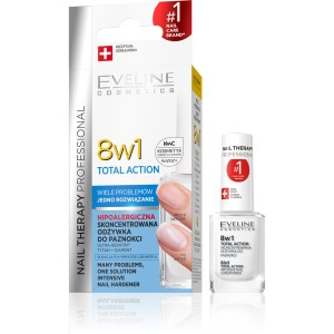 Eveline Nail Therapy odżywka do paznokci 8w1 TOTAL ACTION Skoncentrowana 12ml