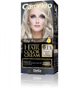 Delia Cameleo Hair Color Cream farba do włosów nr 9.13 szampański blond 120ml