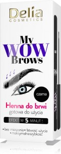 Delia Cameleo My Wow Brown Henna do brwi Czarna bez mieszania