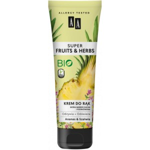 AA SUPER FRUITS&HERBS krem do rąk ananas&szałwia 100 ml