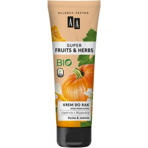 AA SUPER FRUITS&HERBS krem do rąk dynia&jaśmin 100 ml