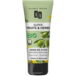 AA SUPER FRUITS&HERBS krem do stóp oliwka&wiesiołek 75 ml