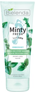 Bielenda Do Stóp Minty Fresh Foot Care Zmiękczający krem-maska 100ml