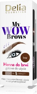 Delia Cameleo My Wow Brown Henna do brwi Brąz bez mieszania